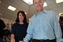 Prime Minister John Key, with his wife Bronagh, favours replacing MMP with a Supplementary Member system. Picture / Brett Phibbs 