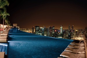 Marina Bay Sands' infinity pool and SkyPark are best avoided by those with a fear of heights. Photo / Kieran Nash