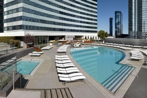 The 3700sq m pool and deck area at Vdara Hotel. Photo / Supplied