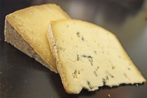 Taupaki Blue and Old Gold goats cheeses. Photo / Supplied