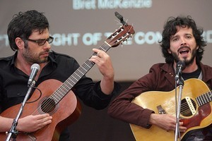 A Flight of the Conchords movie is being planned. Photo / Lynda Feringa
