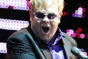 Elton John has declared war on Aids. Photo / Craig Baxter