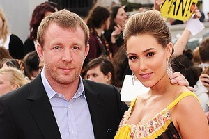 Director Guy Ritchie and his pregnant partner, Jacqui Ainsley. Photo / Getty
