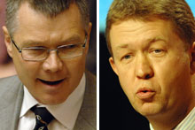 David Parker and David Cunliffe. Photos / Ross Setford and Mark Mitchell