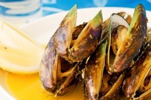 Mussels with cider and cream. Photo / Babiche Martens