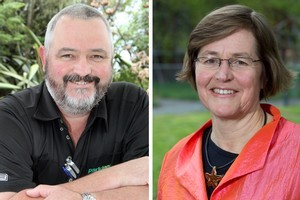 Richard Prosser of New Zealand First, and Eugenie Sage of the Greens. Photos / Supplied, Simon Baker