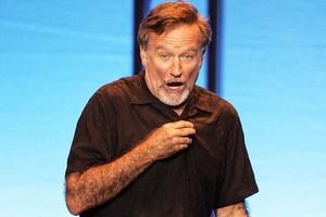 Robin Williams says drunk fans mistake him for Bono. Photo / Michael Craig