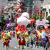 Giant floats at the Farmers Santa Parade. Photo / Natalie Slade