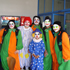 Leukaemia and Blood Foundation clowns are ready to go. Photo / Denis