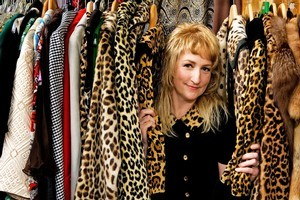 Mandy Neugebauer in vintage shop Black Betty in Pt Chevalier. Photo / Babiche Martens