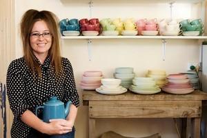 Alison Reid collects Crown Lynn 'Lolly ware'. Photo / Babiche Martens