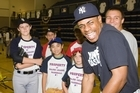 Curtis Granderson at the coaching clinic. Photo / Paul Estcourt