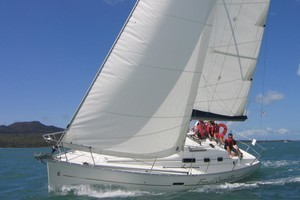 Suzanne Bourke's Sailing Away school of sailing offers a relaxed learning experience on her 32ft yacht, French Connection. Photo / Supplied