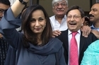 Sherry Rehman when she could appear in public. Photo / AP