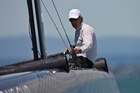 Sir Russell Coutts says he's looking forward to racing an AC45 multihull in the America's Cup World Series as he was 'getting bored with monohulls'. Photo / Gilles Martin-Raget