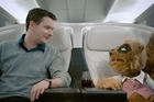 Rico, the Air NZ mascot, in one of the advertisements.