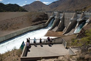 As well as owning hydro lakes like the Benmore Dam, Meridian Energy has invested in Australia. Photo / Simon Baker