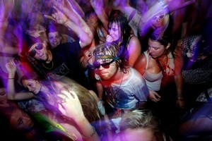 Music fans inside the Boiler Room during the 2011 Big Day Out. Photo / NZ Herald