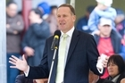 Prime Minister John Key speaking at Ratana Pa yesterday. Photo / Mark Mitchell
