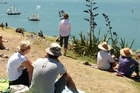 Spectators watch the Auckland Anniversary Day Regatta from North Head at Devonport. Photo / Brett Phibbs