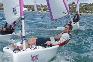 Topaz Uno sailing dinghies are suitable for beginners and experienced sailors. Photo / Supplied