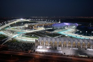 Aireal view of the Yas Marina Circuit, Yas Island at  Abu Dhabi. Photo / Supplied