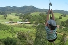 Fun on the giant rope swing. Photo / Supplied