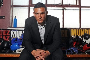 Sonny Bill Williams poses after a press conference at Tony Mundine Gym. Photo / Getty Images