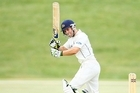 Derek De Boorder of Otago hits to the onside during day one of the Plunket Shield match. Photo / Getty Images