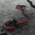 A yacht smashes ashore at Red Beach. Photo / Carl Willis
