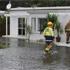Flooding at high tide, Herald Island. Photo /  Kay Jones