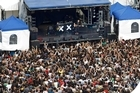 The XX perform at the 2010 Laneway Festival at the old Britomart venue. Photo / Steven McNicholl