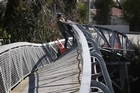 A bridge buckled by the Canterbury earthquake. Photo / Sarah Ivey