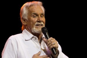 Kenny Rogers at Vector Arena. Photo / NZPA