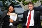Nanaia Mahuta and David Cunliffe. Photo / Christine Cornege