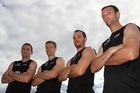 Phillip Burrows, captain Dean Couzins, Blair Hopping and Ryan Archibald form the backbone of the Black Sticks side to play the Netherlands today. Photo / Greg Bowker