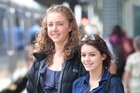 Free range kids Caitlin Neuwelt Kearns (14) left and Jade Paynter (15) are happy getting about town by themselves. Photo / Richard Robinson