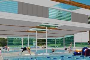 An artists impression of the Cambridge community pool. Photo / Supplied