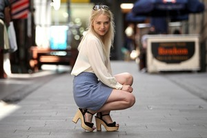 Phoebe Falconer cites her height as the reason she prefers high heels. Photo / Janna Dixon