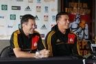 Chiefs Super rugby coach Wayne Smith (left) and Sonny Bill Williams. Photo / Christine Cornege