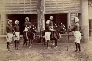 Manipur polo players and their ponies circa 1875. Their version of polo was the model for the subsequent international game. Photo / Supplied