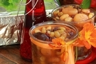 Middle Eastern dried fruit compote packed into little jars. Photo / Doug Sherring