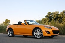 The next MX-5 will be 130kg lighter than the present model. Photo / Supplied