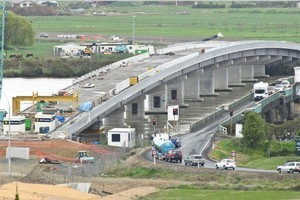 After a ribbon cutting ceremony for the new Kopu Bridge tomorrow the public will be invited to walk over it. Photo / NZTA