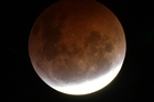 The copper-coloured glow of the moon during last December's lunar eclipse. Photo / NZ Herald