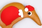 Move away from gingerbread men and localise with kiwi Santa gingerbread. Photo / Babiche Martens