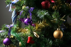 Glittery decorations are already starting to blot homes and businesses. Photo / NZPA