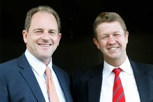 David Shearer (left) and David Cunliffe. Photo / Christine Cornege