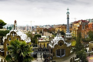 A view of Barcelona from the Antoni Gaudi-designed Park Guell. Photo / Thinkstock