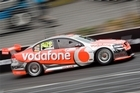Craig Lowndes in action during practice at this year's Hamilton 400. Photo / Paul Estcourt
